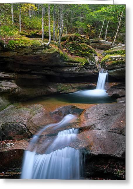 New Hampshire Sabbaday Falls Panorama Greeting Card