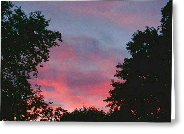 Greeting Card featuring the digital art New Hampshire Sunset by Barbara S Nickerson