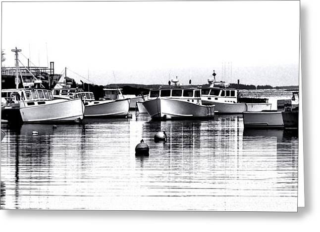 New Harbor Impression Greeting Card by Olivier Le Queinec