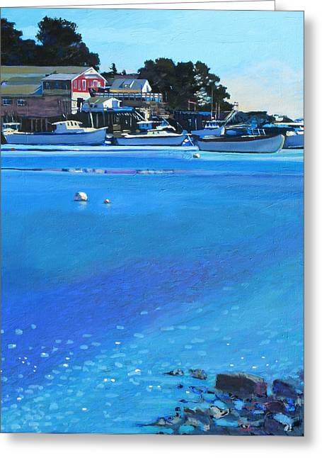 New Harbor Greeting Card by Robert Bissett