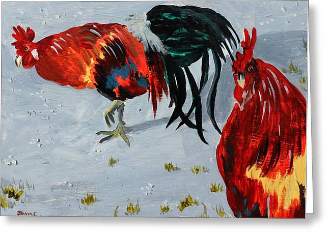 New Harmony Roosters Greeting Card