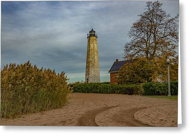 New Haven Light Greeting Card by Capt Gerry Hare