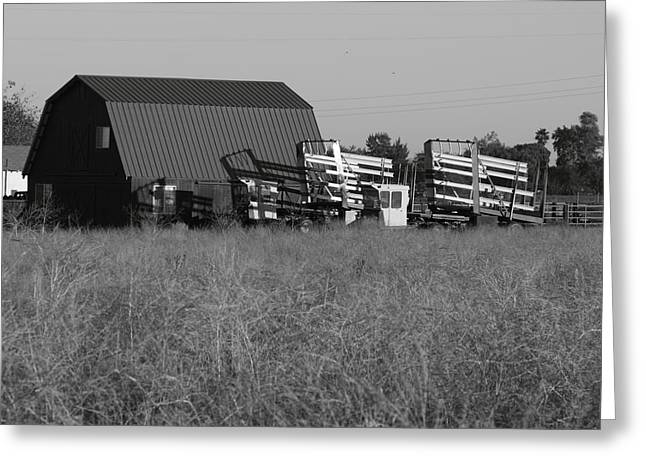 New Holland Bale Wagons Greeting Card by Troy Montemayor