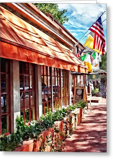 New Hope Pa - Outdoor Seating Now Open Greeting Card