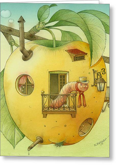 New House Greeting Card by Kestutis Kasparavicius