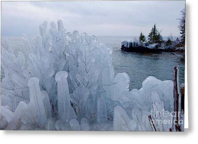 New Ice On Lake Superior Greeting Card by Sandra Updyke