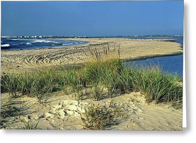 Greeting Card featuring the photograph New Jersey Inlet  by Sally Weigand