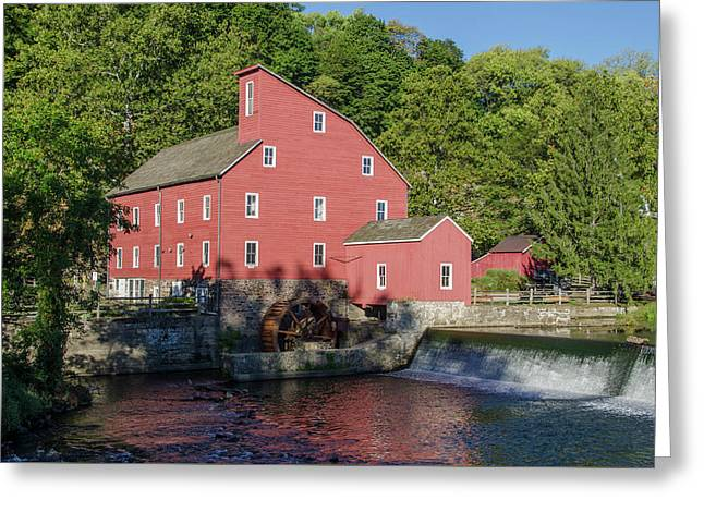 New Jersey - Red Mill In Clinton Greeting Card by Bill Cannon