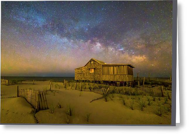 New Jersey Shore Starry Skies And Milky Way Greeting Card