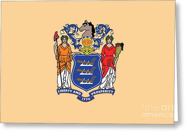 New Jersey State Flag Greeting Card by American School
