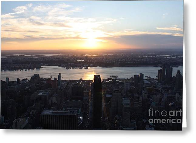 New Jersey Sunset Greeting Card