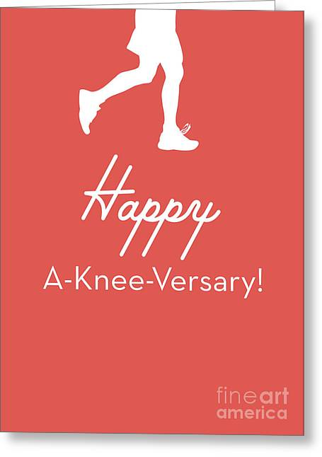 New Knee Card- Art By Linda Woods Greeting Card by Linda Woods