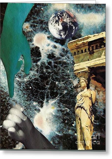 New Life In Ancient Time-space Greeting Card
