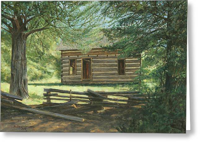 New Log Cabin Greeting Card
