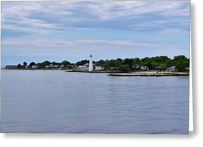 New London Harbor Lighthouse Greeting Card