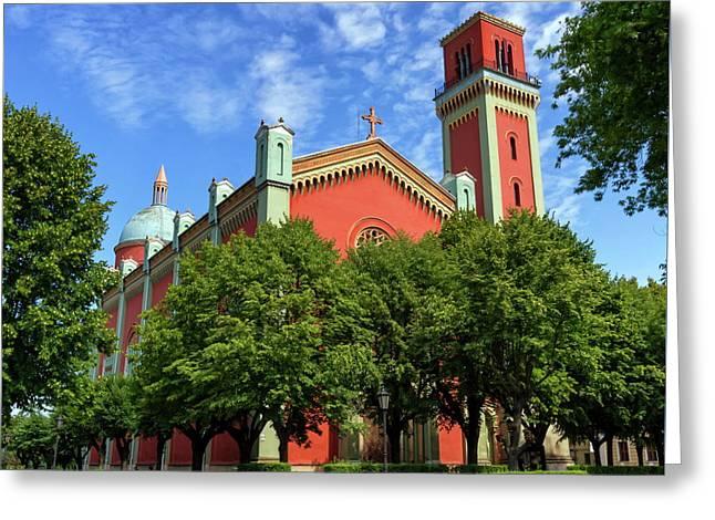 New Lutheran Church In Kezmarok, Slovakia Greeting Card by Elenarts - Elena Duvernay photo