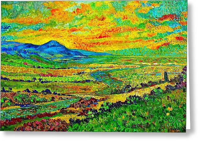 New Mexican Sunset Greeting Card by Michael Durst