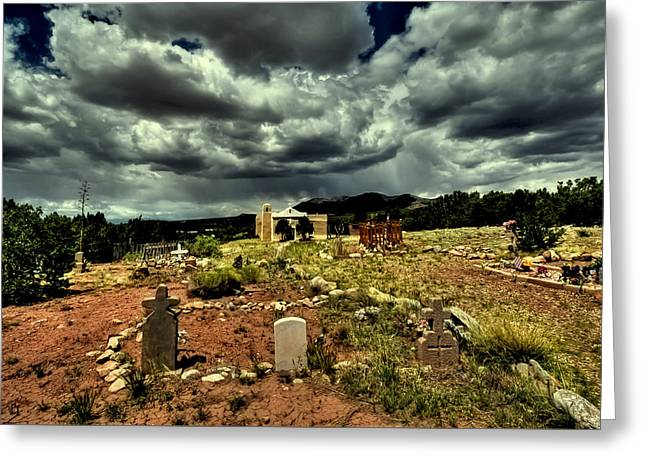 New Mexico Graveyard Greeting Card by David Patterson