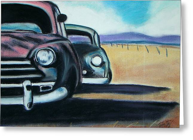 New Mexico Junkyard Greeting Card