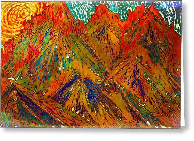 New Mexico Mountain Landscape Greeting Card