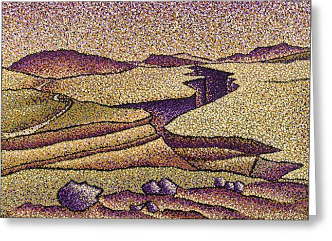 New Mexico Place Of Rest Greeting Card by Rebecca Bangs