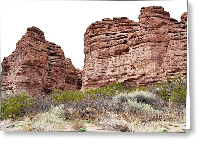 Greeting Card featuring the photograph New Mexico Red Rock Mountain Canyon by Andrea Hazel Ihlefeld