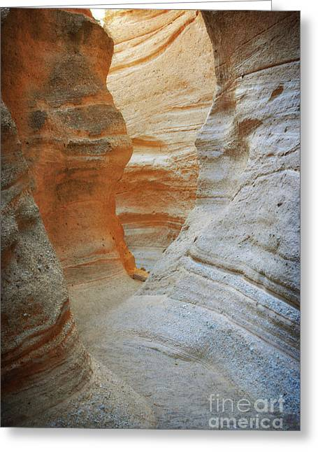 New Mexico Tent Rocks Desert Canyon Landscape Greeting Card by Andrea Hazel Ihlefeld