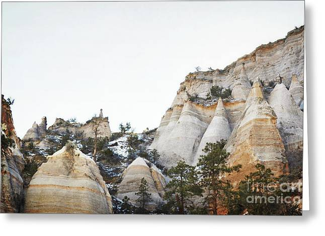 New Mexico Tent Rocks Desert Mountain Landscape Greeting Card by Andrea Hazel Ihlefeld