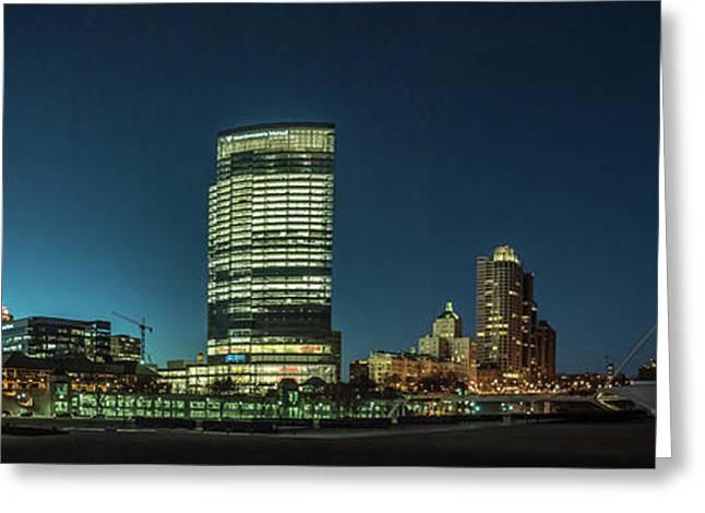 New Milwaukee Skyline Greeting Card by Randy Scherkenbach