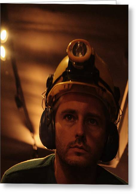New Miner Greeting Card by Adrian Wale