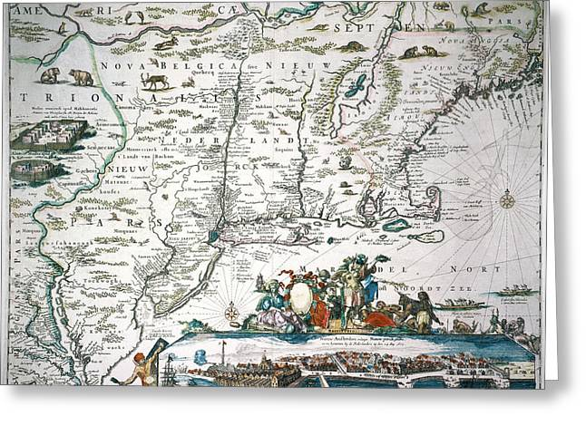 New Netherland Map Greeting Card by Granger