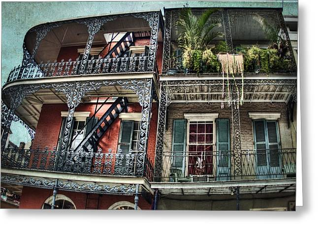 New Orleans Balconies No. 4 Greeting Card by Tammy Wetzel