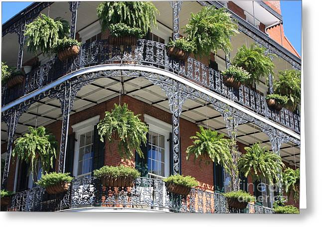 New Orleans Balcony Greeting Card