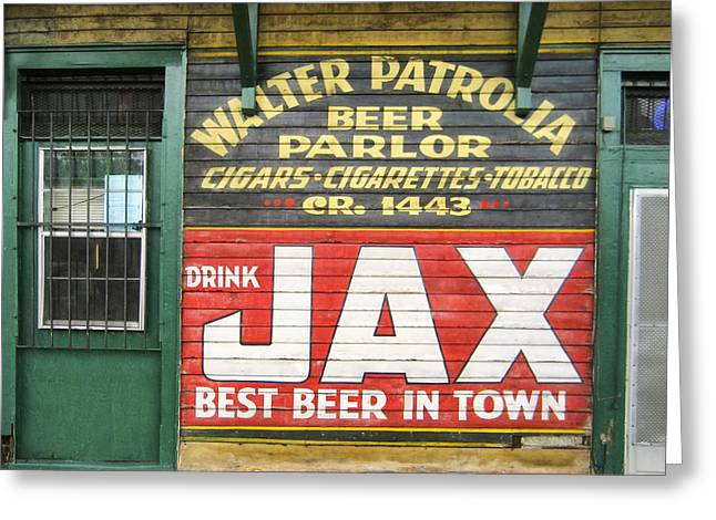 New Orleans Beer Parlor Greeting Card