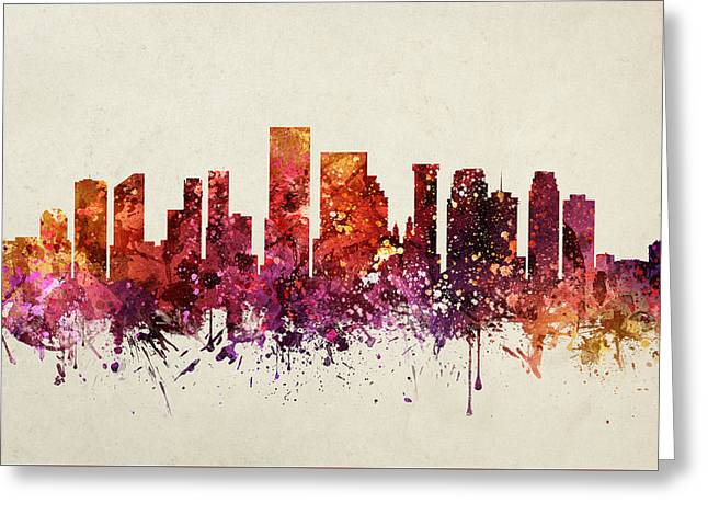 New Orleans Cityscape 09 Greeting Card by Aged Pixel