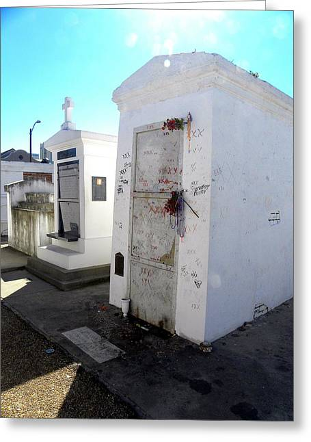 New Orleans Crypt 13 Greeting Card by Patricia Bigelow