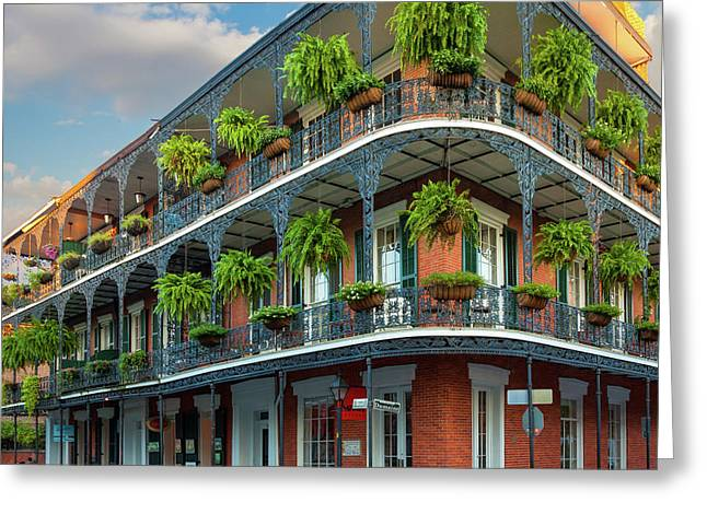 New Orleans House Greeting Card by Inge Johnsson