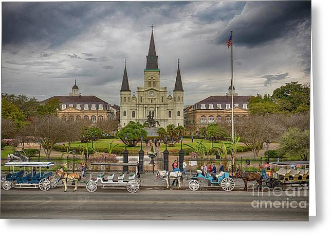 Greeting Card featuring the photograph New Orleans Jackson Square by Ron Sadlier