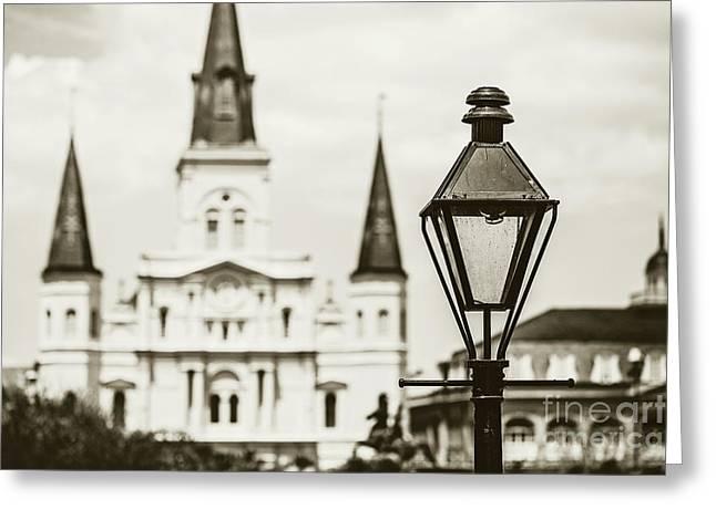 New Orleans Landmark - Sepia Greeting Card