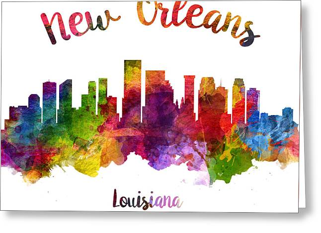 New Orleans Louisiana 23 Greeting Card by Aged Pixel