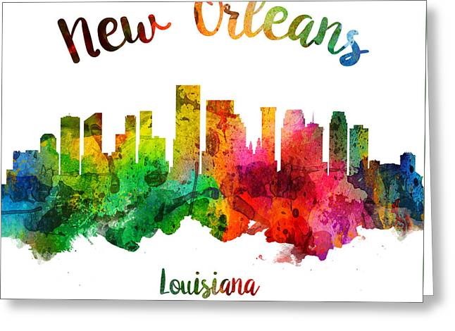 New Orleans Louisiana 24 Greeting Card by Aged Pixel
