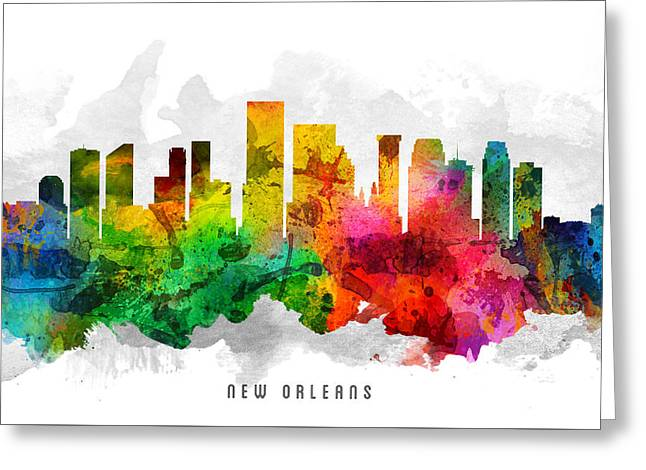 New Orleans Louisiana Cityscape 12 Greeting Card