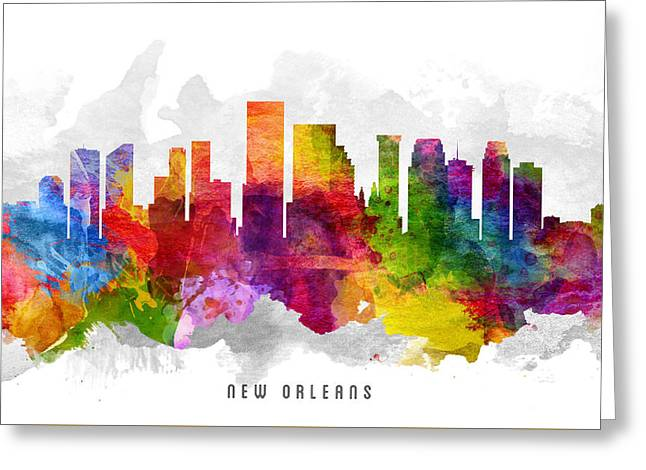 New Orleans Louisiana Cityscape 13 Greeting Card