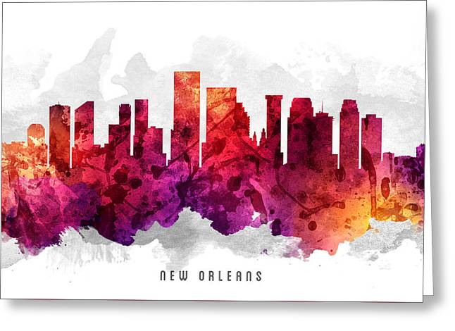 New Orleans Louisiana Cityscape 14 Greeting Card