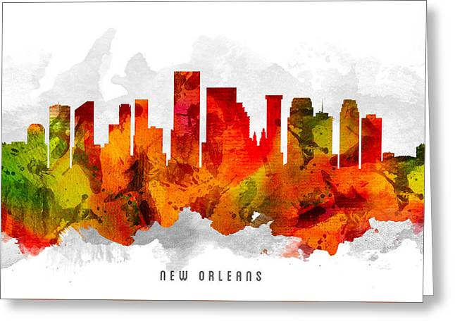 New Orleans Louisiana Cityscape 15 Greeting Card