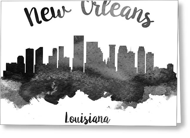 New Orleans Louisiana Skyline 18 Greeting Card