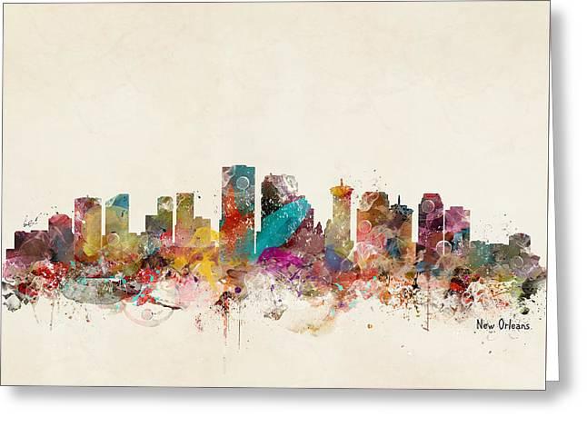 New Orleans Louisiana Skyline Greeting Card