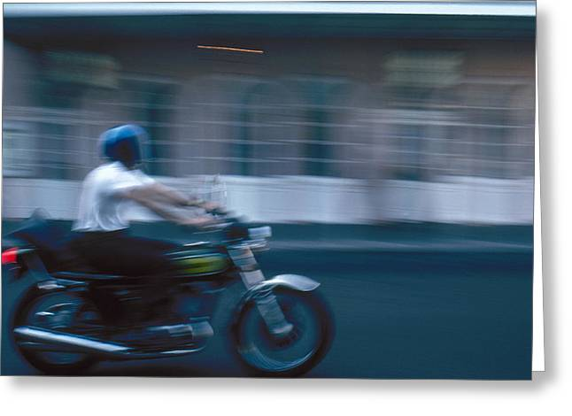 New Orleans: Motorcycle Greeting Card by Granger