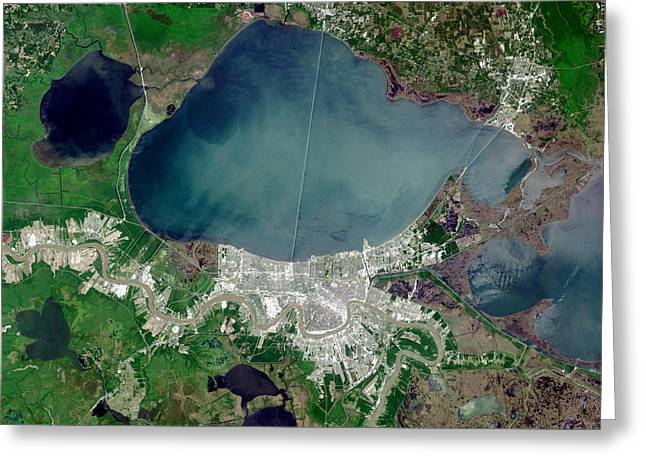 Urbanisation Greeting Cards - New Orleans Greeting Card by Nasa
