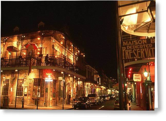 New Orleans Jazz Night Greeting Card